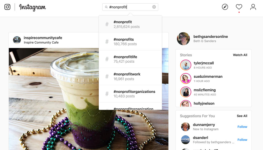 instagram hashtag search