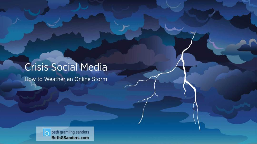 Crisis Social Media: How to Weather an Online Storm