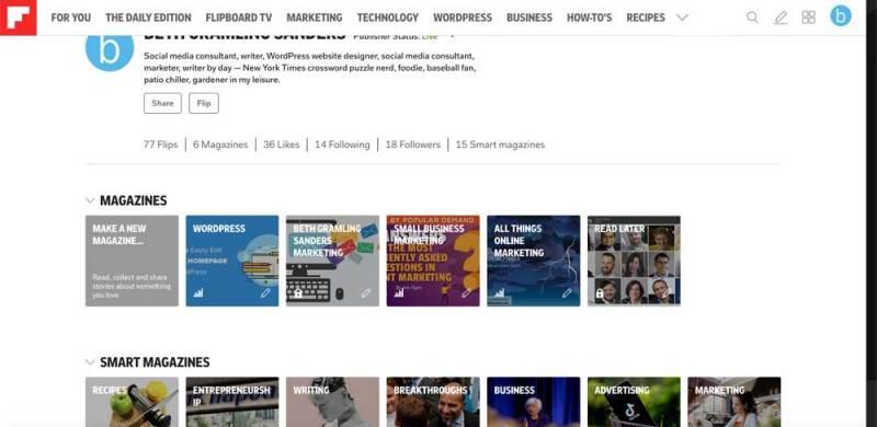 create new Flipboard magazine