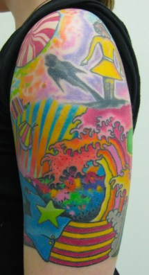 psychedelic fantasy tattoo