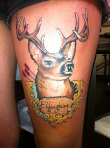 Doe eyed deer tattoo