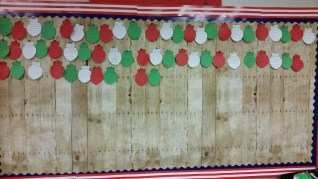 Interactive December bulletin board