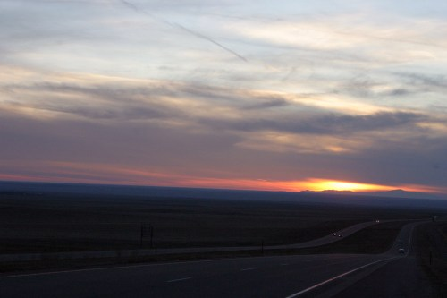 I-70 Sunset west of Oakley Nov 2009