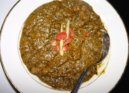 India's Pearl chicken saag Dec 2009