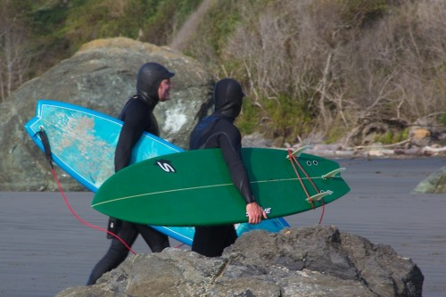 Houda Point, California surfers