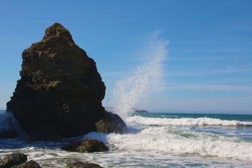 California beaches, Beth Partin's photos, spray, Arcata photos