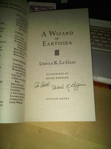 Wizard of Earthsea signed