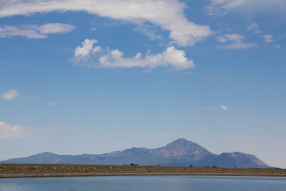 Close-up of Sleeping Ute Mountain