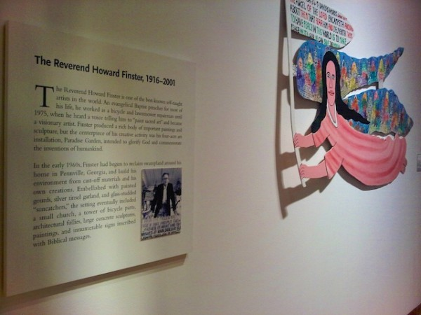 Reverend Howard Finster angel and description, High Museum, Atlanta, 2012 (1)