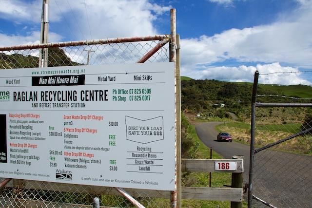 Extreme entrance sign Raglan NZ Sept 2015