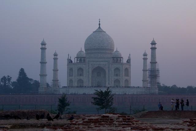 Taj Mahal Mehtab Bagh view Agra Dec 2015