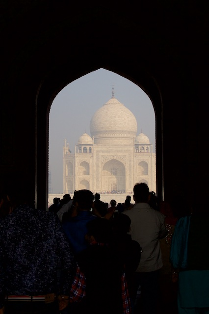 Taj Mahal aha moment Agra Dec 2015