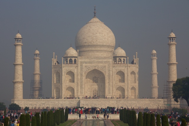 Taj Mahal from the Great Gate Agra Dec 2015