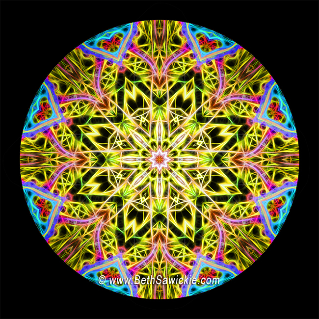 Burst of Joy Mandala by Beth Sawickie http://www.bethsawickie.com/burst-of-joy-mandala