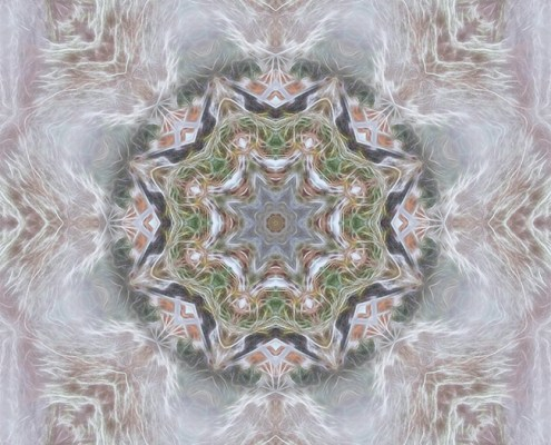 Cold Winter Mandala by Beth Sawickie