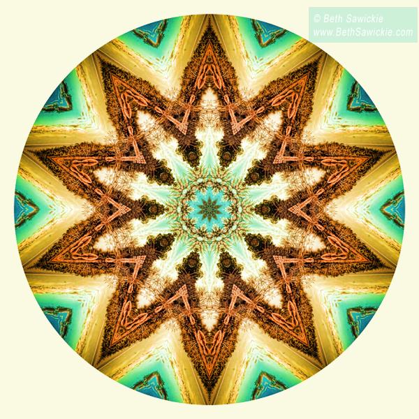 "Image by Beth Sawickie www.BethSawickie.com/golden-hour-mandala ""Golden Hour Mandala"""