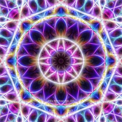 Lilac mandala 14-B by Beth Sawickie