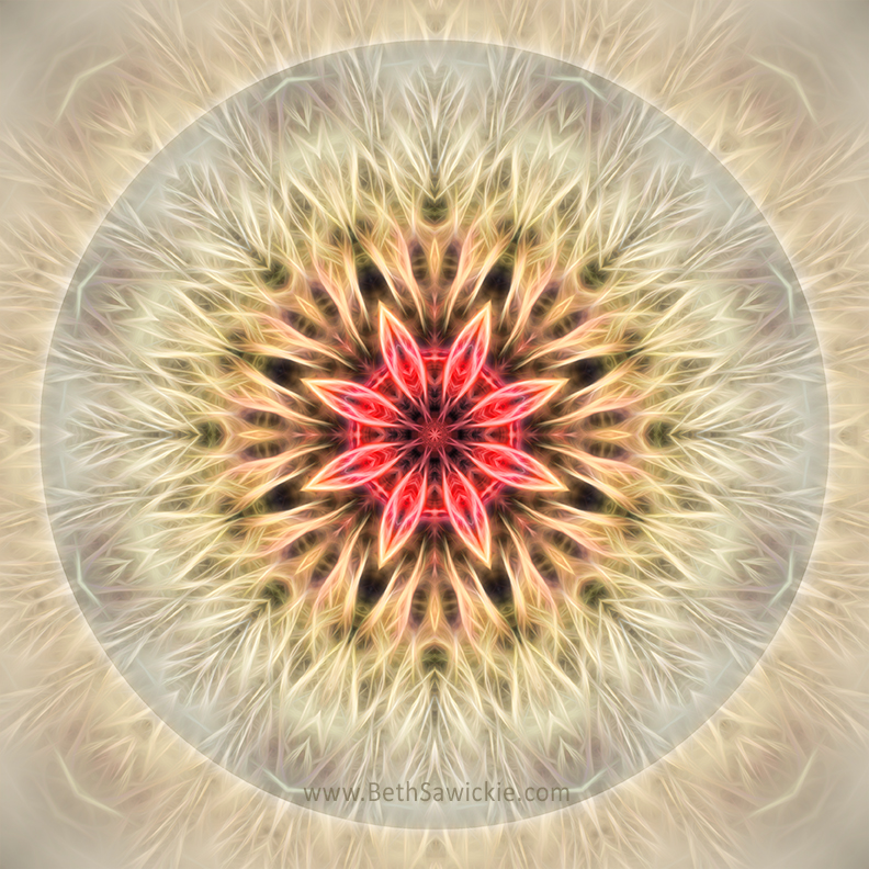 Love From Within Mandala by Beth Sawickie