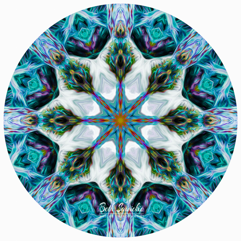 Rainbow Waterfall Mandala 1