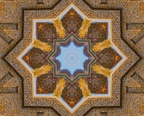 Windows to Autumn Mandala 3 by Beth Sawickie http://bethsawickie.com/windows-to-autumn-mandala-3