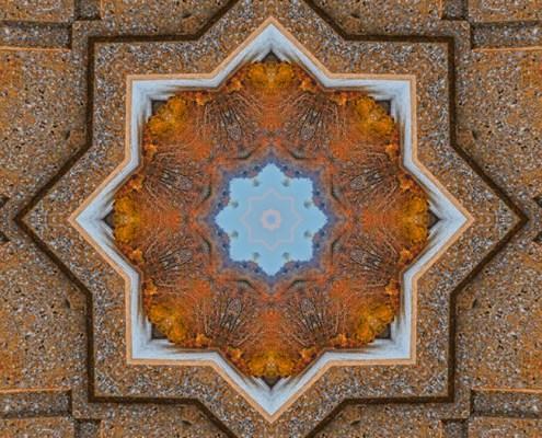 Windows to Autumn Mandala 5 by Beth Sawickie http://bethsawickie.com/windows-to-autumn-mandala-5