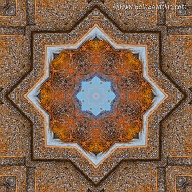 Windows to Autumn Mandala 5 by Beth Sawickie http://bethsawickie.com/windows-to-autumn-mandala-5