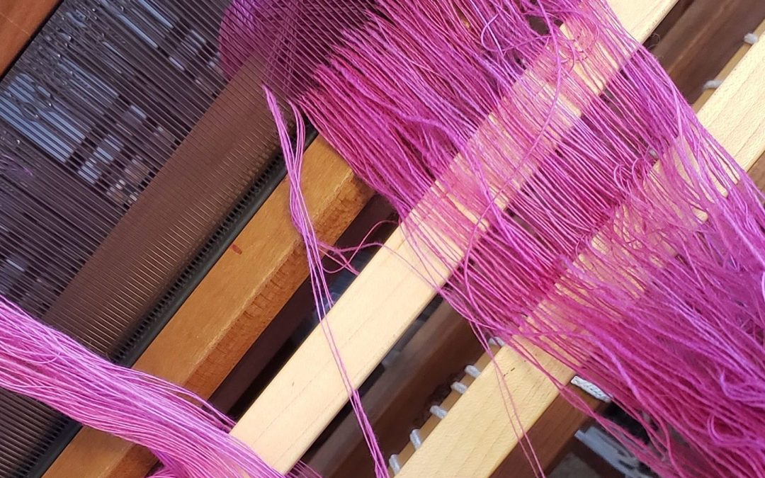 Skirt Project – Putting the samples on the loom
