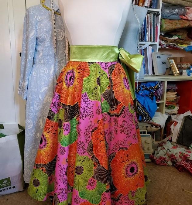 Full Circle Ankara Wrap Skirt