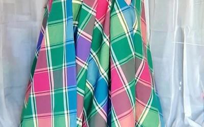 Full Circle Maxi Wrap Skirt – Multicolor Plaid