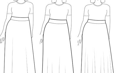 Max Length Retro Cotton Skirt