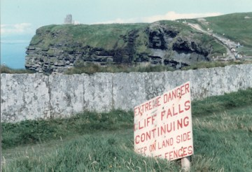 Warning signs in County Clare.