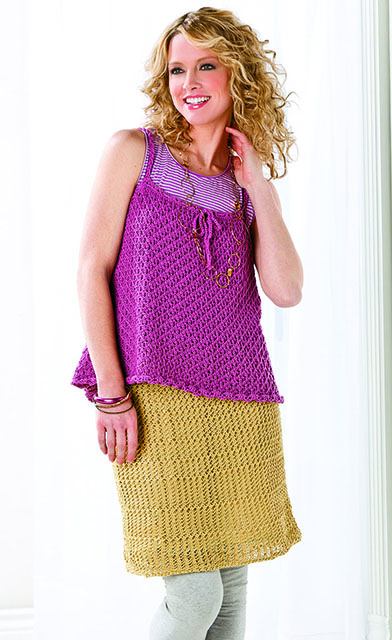 Lacy Tank and Skirt