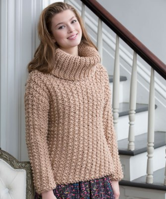 Red Heart 4204EN Chunky Textured Sweater