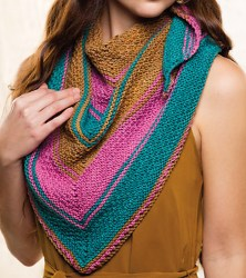 Double Your Pleasure Shawl, front