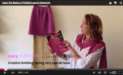 Knitted Lace and Openwork video