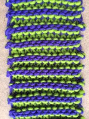 1 row stripes close up