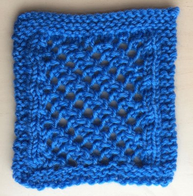 Swatch: Diagonal Madeira (mult of 4 sts +8; 8 rows)