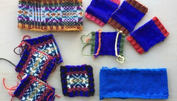 Strand and Steek swatches