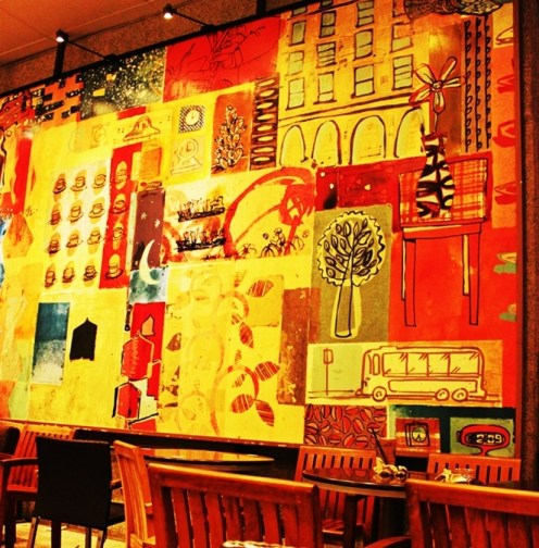 - An artistic painting of wall decoration, Singapore -