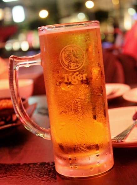 A glass beer at Clarke Quay, Singapore