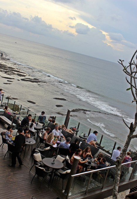 Sunset at cozy Cafe, Jimbaran Beach, Bali