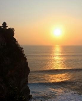 """The """"golden"""" sunset at Puri Uluwatu, Bali."""