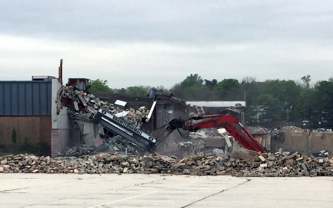 Granite Run Mall Comes Down