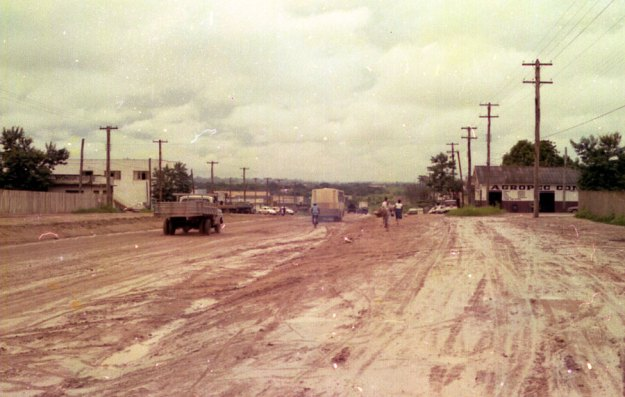 BR 364, em frente ao Colégio Mal Rondon 1977 foto: B.Bertagna