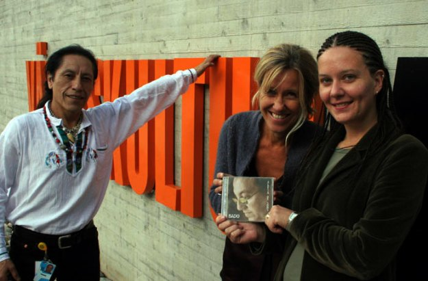 Catharina Bergil, Anne-Sofie Hult e Enrico Barrera - staff do Museum of World Culture