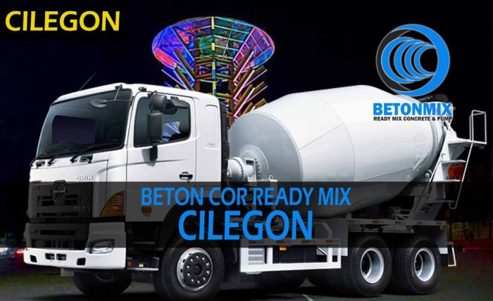 harga beton cor ready mix cilegon