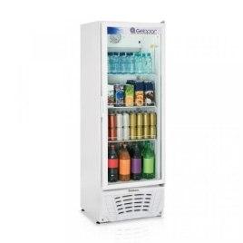 Refrigerador Expositor Profissional 414L Vertical Frost Free 306w Branco Gelopar 110V