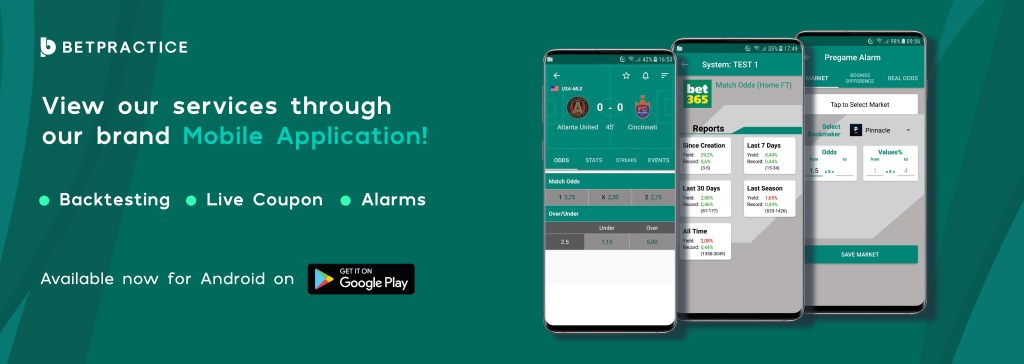 Betpractice Android App, football notifications Download Free Play Store