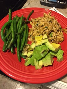 Saturday's surprisingly good dinner. Maybe avocados really do make everything better?