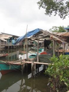 A Muslim fishing village.
